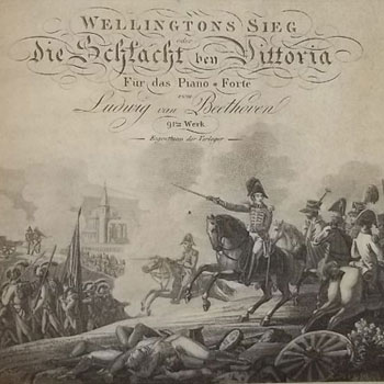 Wellington Sieg, [Victoire de Wellignton], transcription pour piano par Beethoven Edition S.A Steiner Vienne 1815